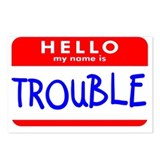 HELLO MY NAME IS TROUBLE Postcards (Package of 8)