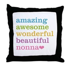 Nonna - Amazing Awesome Throw Pillow