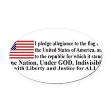 Unique Pledge allegiance Oval Car Magnet