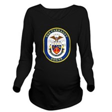 DDG 99 USS Farragut Long Sleeve Maternity T-Shirt