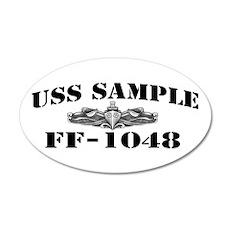 USS SAMPLE 20x12 Oval Wall Decal