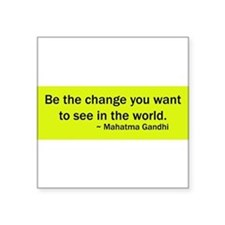 "Cute Gandhi quotes Square Sticker 3"" x 3"""