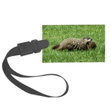 Groundhog and baby Luggage Tag