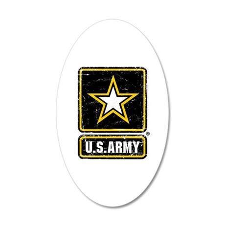 US Army Vintage 35x21 Oval Wall Decal
