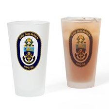 USS Momsen DDG-92 Drinking Glass
