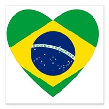 "Brazil Square Car Magnet 3"" x 3"""