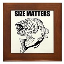 Size Matters Fishing Framed Tile