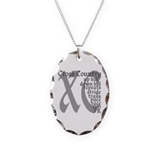 Cross Country XC grey gray Necklace