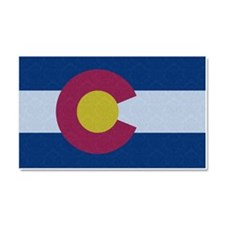 Flag of Colorado Damask Pattern Car Magnet 20 x 12