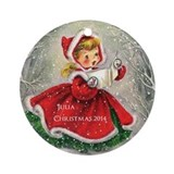 Choir girl Round Ornaments
