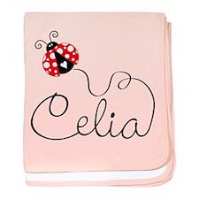 Ladybug Celia baby blanket