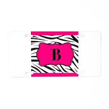 Personalizable Hot Pink Black Zebra Aluminum Licen