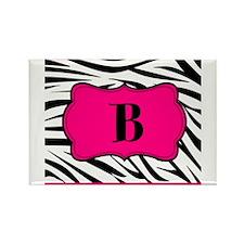 Personalizable Hot Pink Black Zebra Magnets