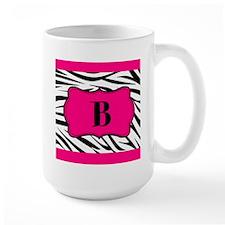 Personalizable Hot Pink Black Zebra Mugs