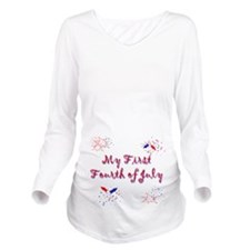 firstfourth.png Long Sleeve Maternity T-Shirt