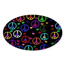 Rainbow Peace and Hearts Decal