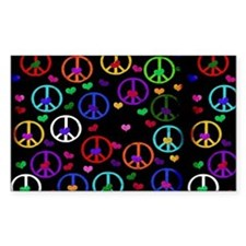 Rainbow Peace and Hearts Stickers