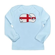 English Whale Long Sleeve Infant T-Shirt