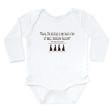 Chocolate Bunnies Long Sleeve Infant Bodysuit