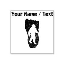 Custom Distressed Bigfoot In Footprint Sticker