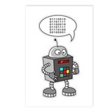 Binary Robot Postcards (Package of 8)