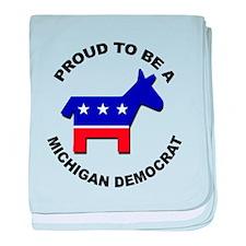 Proud Michigan Democrat baby blanket