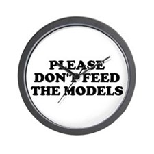 Please Don't Feed The Models Wall Clock
