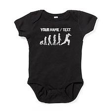 Custom Distressed Cricket Evolution Baby Bodysuit