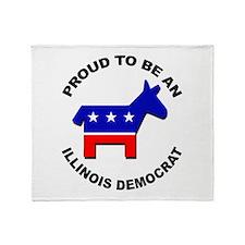 Proud Illinois Democrat Throw Blanket