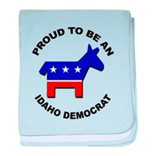Proud Idaho Democrat baby blanket
