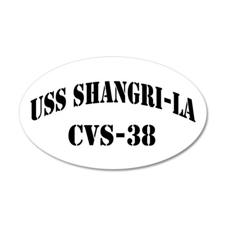 USS SHANGRI-LA 20x12 Oval Wall Decal