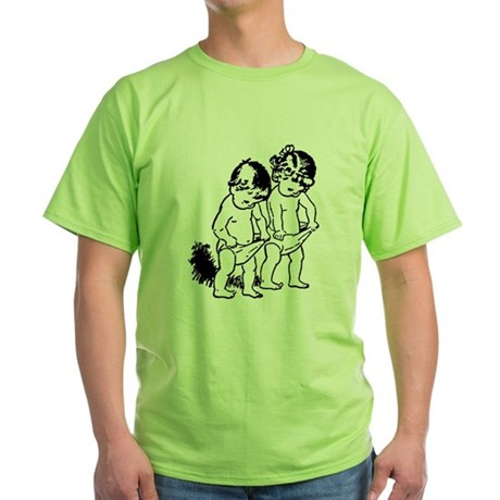 "vintage ""underpants"" cartoon Green T-Shirt"