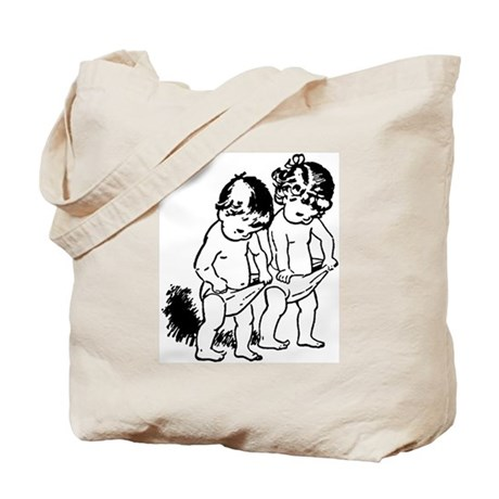"vintage ""underpants"" cartoon Tote Bag"