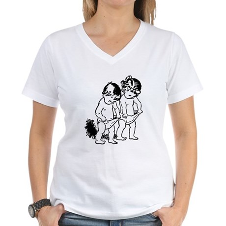 "vintage ""underpants"" cartoon Women's V-Neck T-Shir"