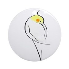 Lutino Cockatiel Ornament (Round)