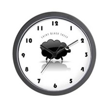 Shiny Black Sheep Wall Clock