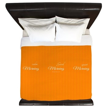 Morning Tangerine King Duvet