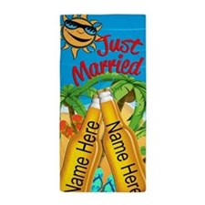 Just Married Beer Beach Beach Towel