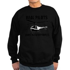 Real Pilots Dont Need Runways - Enstrom Sweatshirt