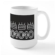 Black 40th Birthday Mugs