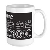40th birthday women Large Mugs (15 oz)