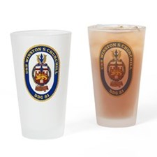 USS Churchill DDG-81 Drinking Glass