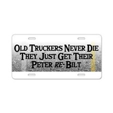 Cute Truck driver Aluminum License Plate