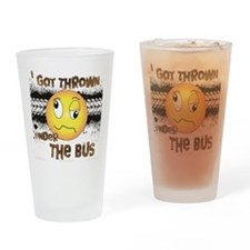 Under the Bus-Design 3 Drinking Glass