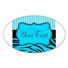 Personalizable Teal Black and White Decal