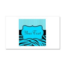 Personalizable Teal Black and White Car Magnet 20