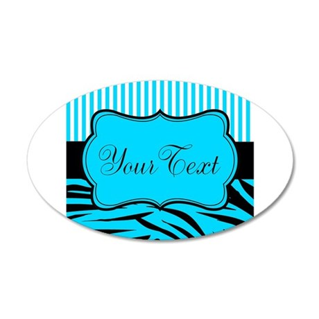 Personalizable Teal Black and White Wall Decal
