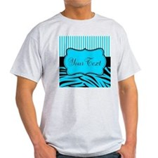Personalizable Teal Black and White T-Shirt