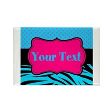 Personalizable Teal Hot pink Magnets