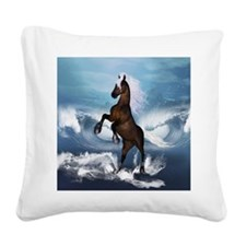 Beautiful horse with white mane Square Canvas Pill
